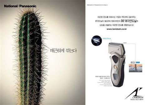 pin beard fix marketing electric razor cactus print print ads