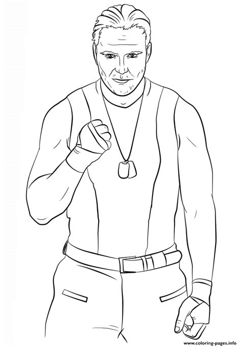 wwe dean ambrose coloring page coloring pages printable