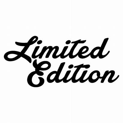 Edition Limited Special Sticker Decal Transparent Clipart