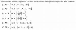Maximum Und Minimum Berechnen : supremum supremum infimum maximum minimum der mengen bestimmen mathelounge ~ Themetempest.com Abrechnung
