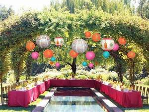 Nice room decoration ideas, back yard summer party