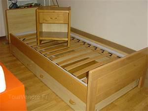 Lit Maison Bois : lit baldaquin bois 1 personne ~ Premium-room.com Idées de Décoration