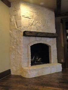 Austin Stone Fireplace - Traditional - Family Room
