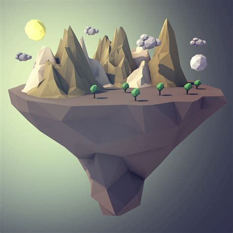 Low poly Landscape by Xomny | 3DOcean