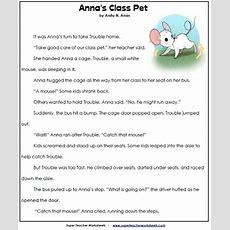 2nd Grade Reading Comprehension Printables
