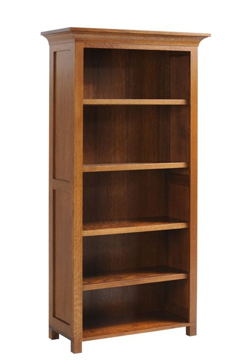 "36"" Wide Mission Bookcaseohio Hardwood Furntiure"