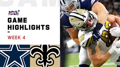 cowboys  saints week  highlights nfl  youtube