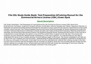 File Cdl Study Guide Book  Test Preparation  U0026 Training