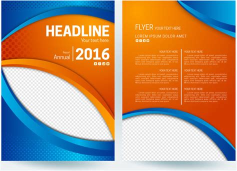 Best Sermina Flyer Template Without Background abstract flyer background with orange and blue color free