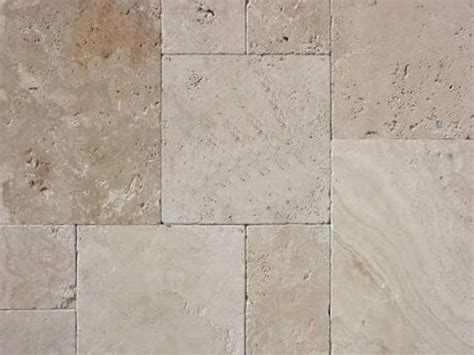 Classic French Pattern Travertine Unfilled & Tumbled