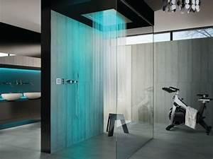 cabine de douche moderne 30 exemples pour vous ravir With carrelage adhesif salle de bain avec lumiere led esthetique