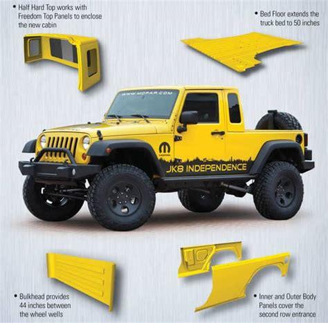 jeep wrangler jk  pickup conversion kit normandin