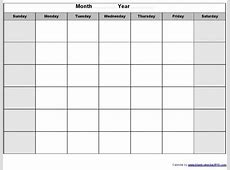 Blank Calendars To Print Without Downloading Printable