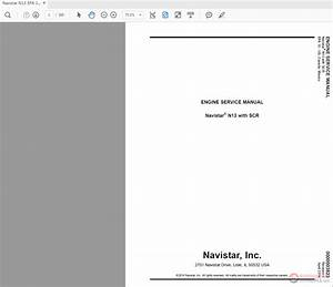 Navistar N13 Epa 10 Engine With Scr Service Manual