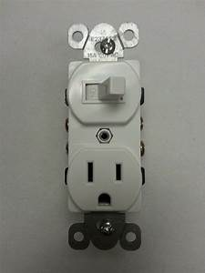 1 Pc  New Toggle Switch With Outlet Device Duplex Combo
