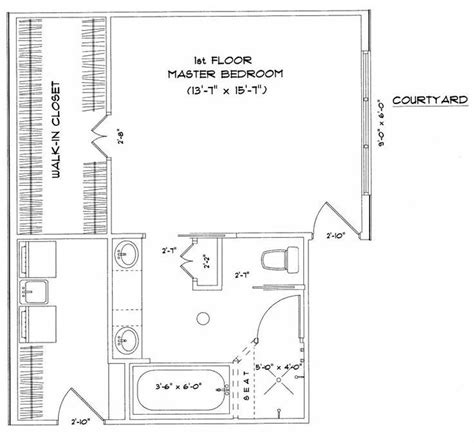 Master Bedroom Floor Plans by Master Bedroom Suite With Laundry Floor Plans Master