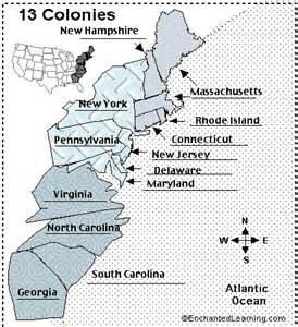 Label 13 Colonies Map