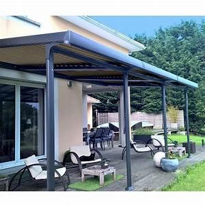 Pergola Adossée 4x4 : tonnelle adoss e aluminium lames orientables 3 5x6 m azura gamm vert ~ Melissatoandfro.com Idées de Décoration