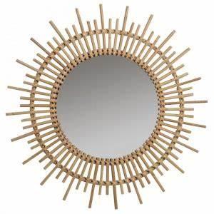 Miroir Rotin Noir : miroir soleil noir en rotin brin d 39 ouest ~ Melissatoandfro.com Idées de Décoration