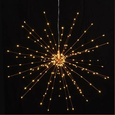 large hanging starburst led light decoration silver