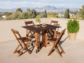 carrefour urban set plegable madera acacia mediana