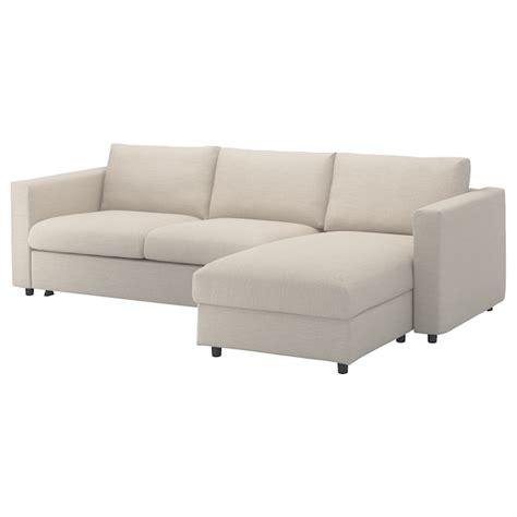vimle cover  sleeper sofa  chaise gunnared beige