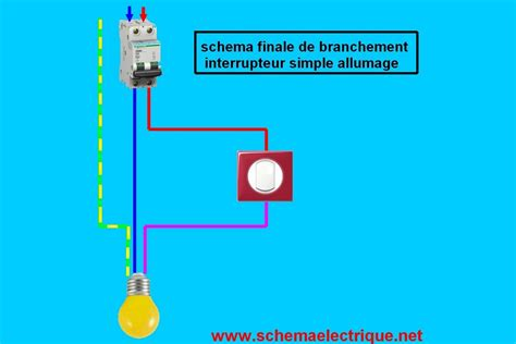interrupteur le de bureau schema branchement cablage interrupteur simple allumage
