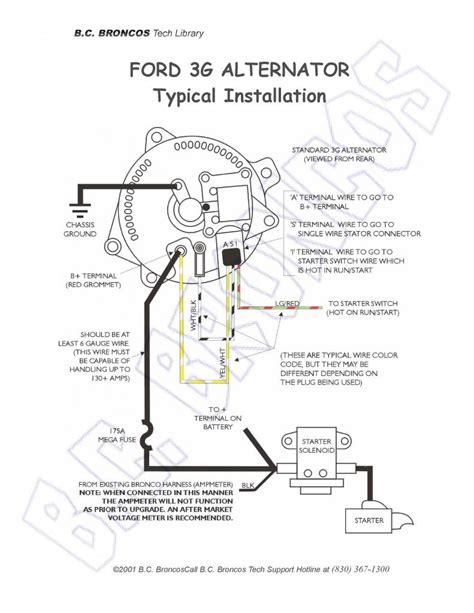 Ford Truck Alternator Diagram by Ford 1g Alternator Wiring Diagram Wiring Diagram Fuse Box
