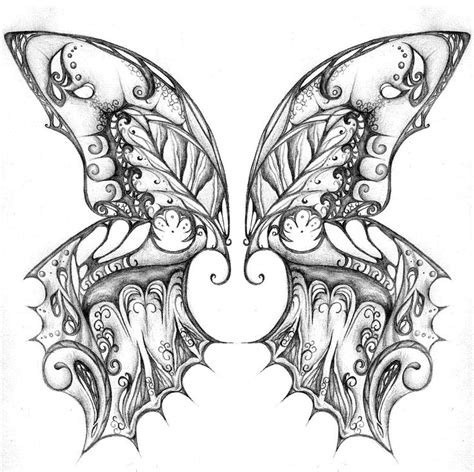 Kleurplaat Wings by Butterfly Wings Coloring Pages Sketch Coloring Page