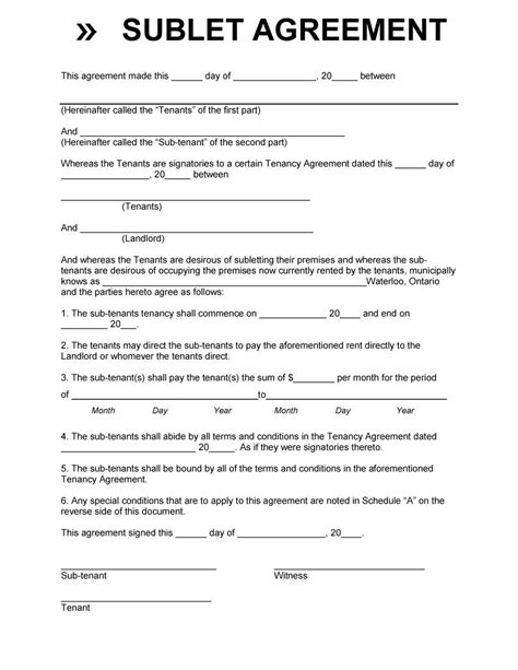 Sublease Agreement Template 40 Professional Sublease Agreement Templates Forms