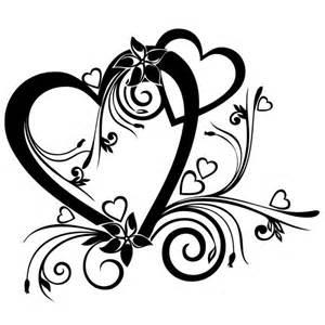 coeur de mariage stickers mariage coeur floral stickers