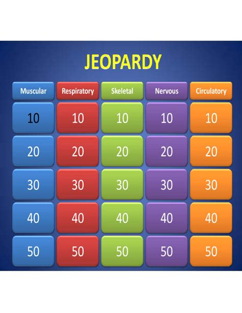 sample template  jeopardy powerpoint