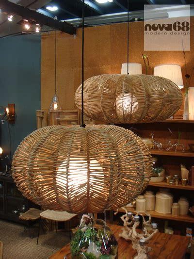 Maori Modern Wicker Saucer Pendant Lamp: NOVA68.com