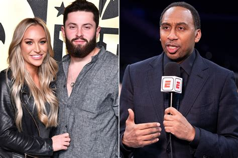 Baker Mayfield's wife Emily jabs Stephen A. Smith on Twitter