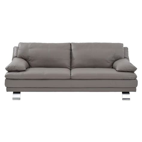 grey sofa leather modern grey leather sofa sam levitz