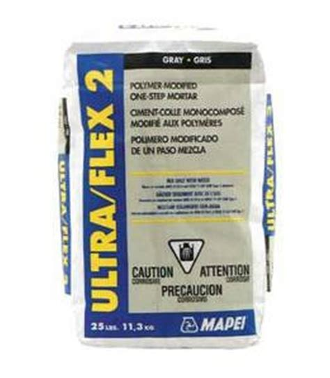 ultraflex 2 mortar ultraflex 2 60054 professional grade tile mortar 25 lb