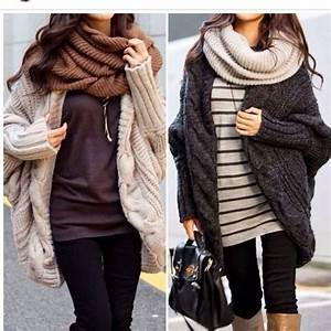 cozy winter outfits, ahhhh love the big sweaters and big ...