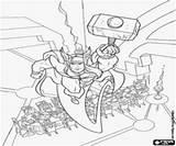 Thor Odin Coloring Colorear Sobre Martillo Vuela Mesa Kolorowanki Dibujos Kleurplaten Odyna Stole Leci Kleurplaat Vliegt Tabel Loki Pintar sketch template