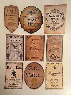 lot  sticker tall labels harry potter party pre cut