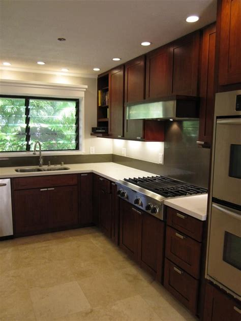 burgundy cherry c c cabinets and granite