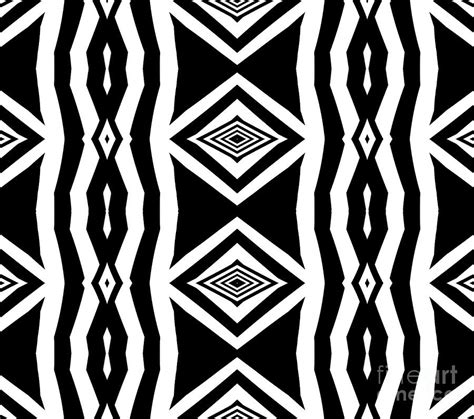 Abstract Black White Pattern by Geometric Pattern Abstract Black White No 339 Digital