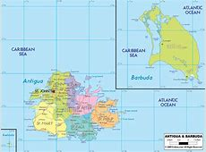 Antigua And Barbuda Map Free Colouring Pages