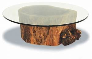 hollow trunk coffee table round glass top contemporary With round tree trunk coffee table