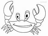 Crab Coloring Drawing Printable Drawings Cool2bkids Kid Colorings Paintingvalley Getcolorings sketch template