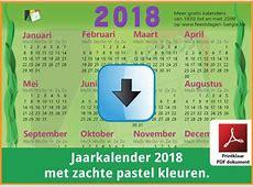 Kalenders 2018 Gratis Downloaden en Printen? Feestdagen