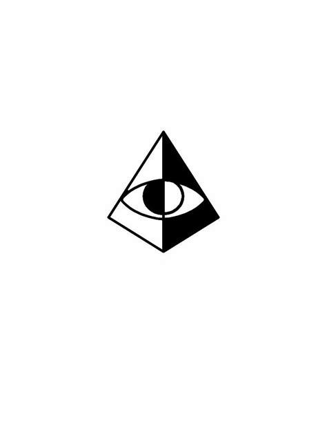 Minimal third eye pyramid tattoo flash design | Pyramid tattoo, Third eye tattoos, Pyramid eye