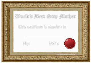 Potty Chart Award Certificates For Stepmother
