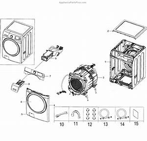 Samsung Dc97-20165a Assy Cover Top Wf5000ha Wf42h5200ap  A2 D
