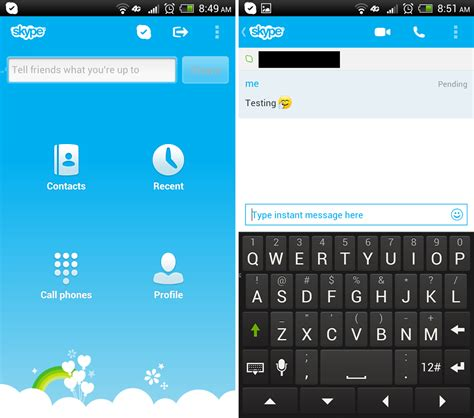 for android skype for android updated newly reved im interface and
