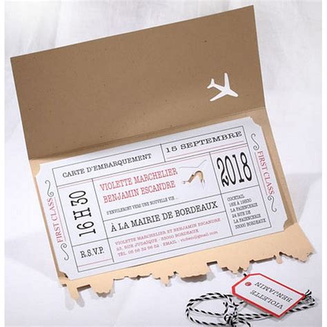 faire part mariage texte voyage faire part mariage avion voyage billet camel faire part